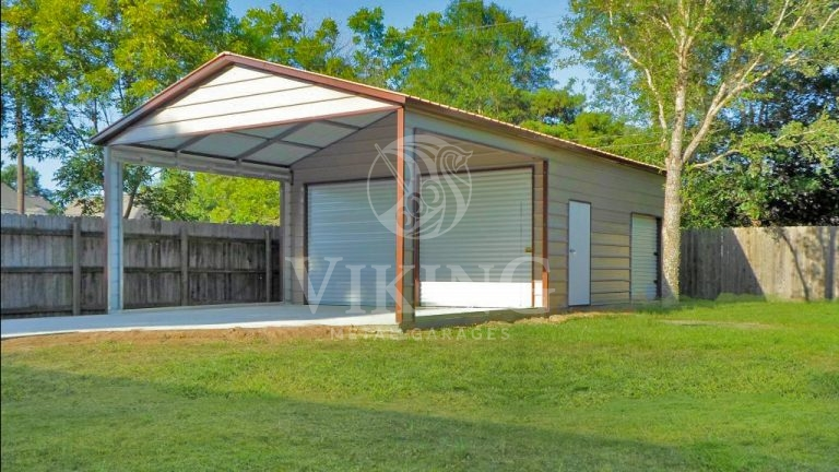 18x36x10 Custom Utility Metal Garage