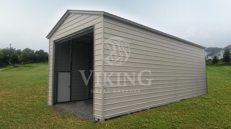 18x40x14 Vertical Roof RV Garage