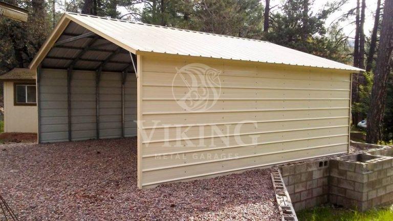 20x21x7 Vertical Metal Carport