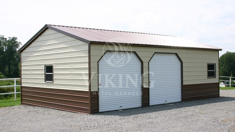 20x26x9 Vertical Roof Side Entry Garage