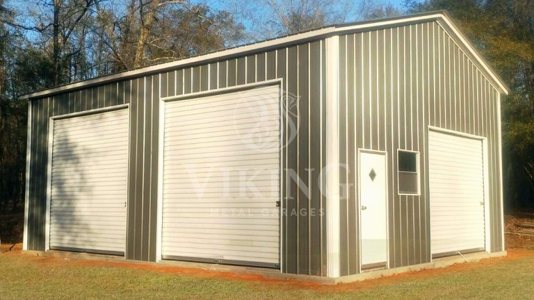 22x30x12 Enclosed All Vertical Side Entry Garage