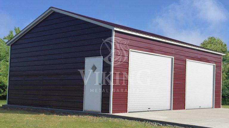 24x25x9 Side Entry Metal Garage