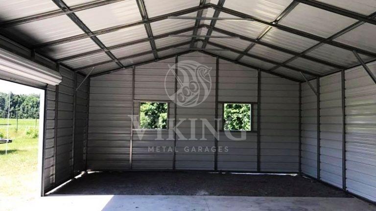 24x35x10 Enclosed Side Entry Garage