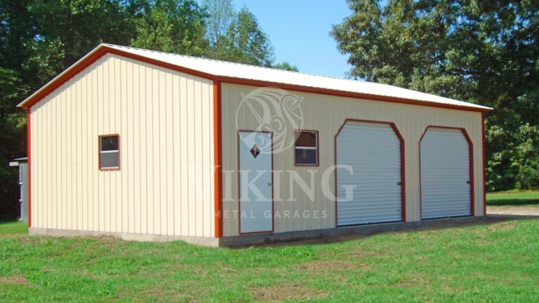 24X36X10 All Vertical Fully Enclosed Garage