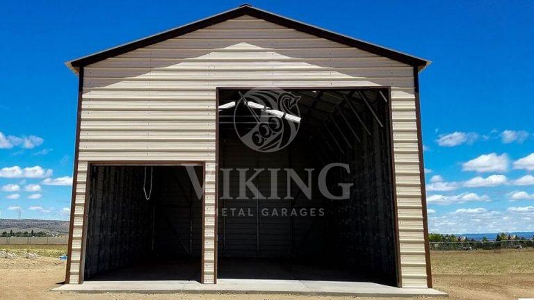 24x41x15 Fully Enclosed Metal Garage Workshop