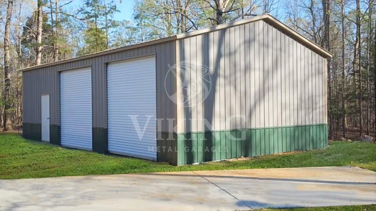 30x30x10 Fully Enclosed All Vertical Side Entry Garage
