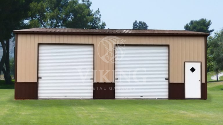 30x35x10-all-vertical-side-entry-deluxe-garage-front-view