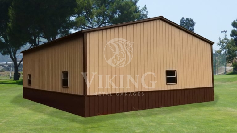 30x35x10 All Vertical Side Entry Deluxe Garage
