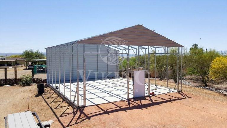 30x36x12 Vertical Roof Metal Garage