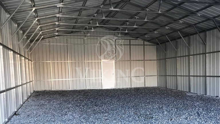 30x40x12 All Vertical Metal Garage