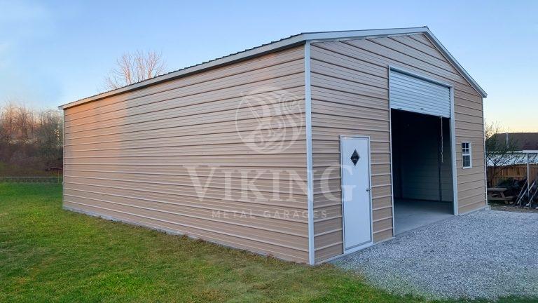 30x40x12 Enclosed Metal Garage