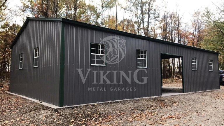 40x60x12 All Vertical Fully Enclosed Workshop