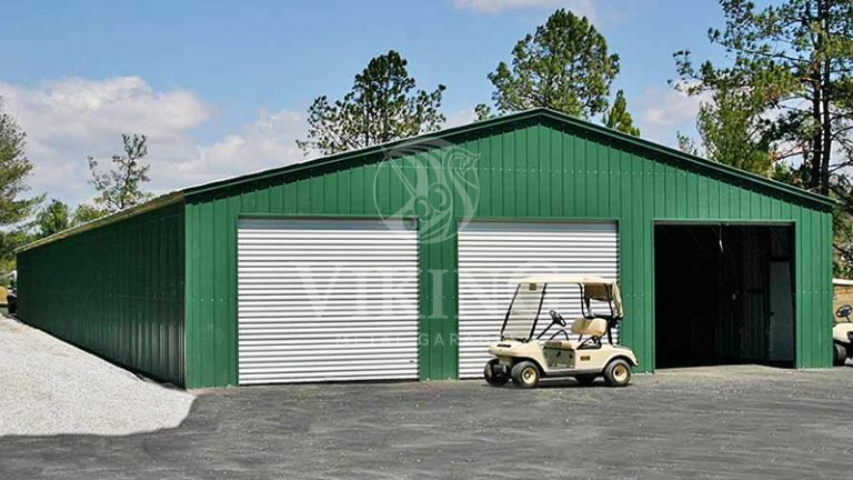 40x61x11 All Vertical Steel Garage