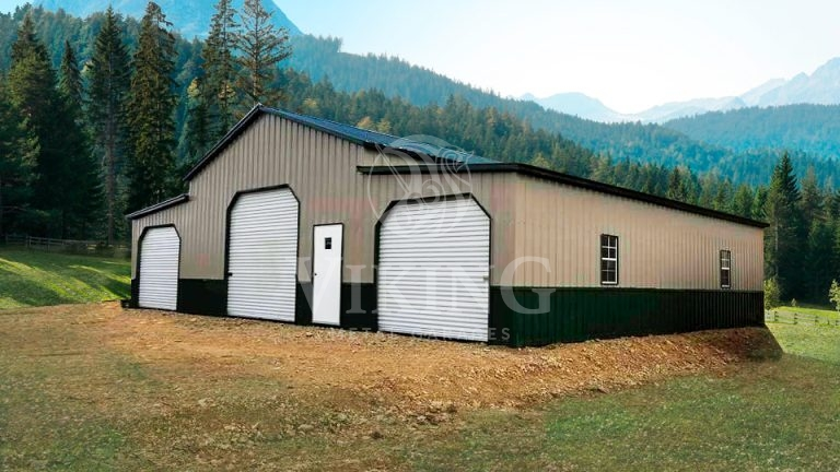 44x30x12 All Vertical Raised Center Aisle Barn