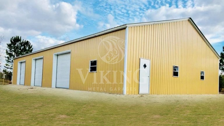 46x76x12 Fully Enclosed All Vertical Commercial Garage