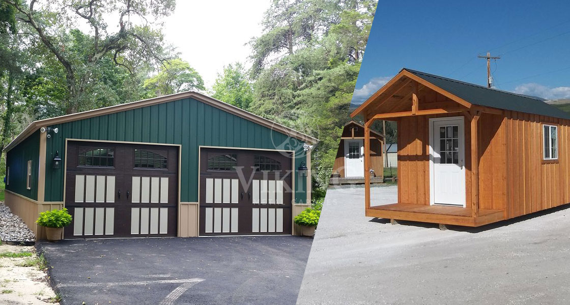 Metal Garage Buildings over Traditional Wooden Garage Structures