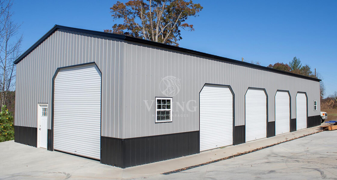 Side Entry Metal Garage