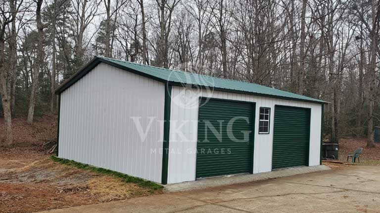 24 x 30 x 9 All Vertical Metal Garage