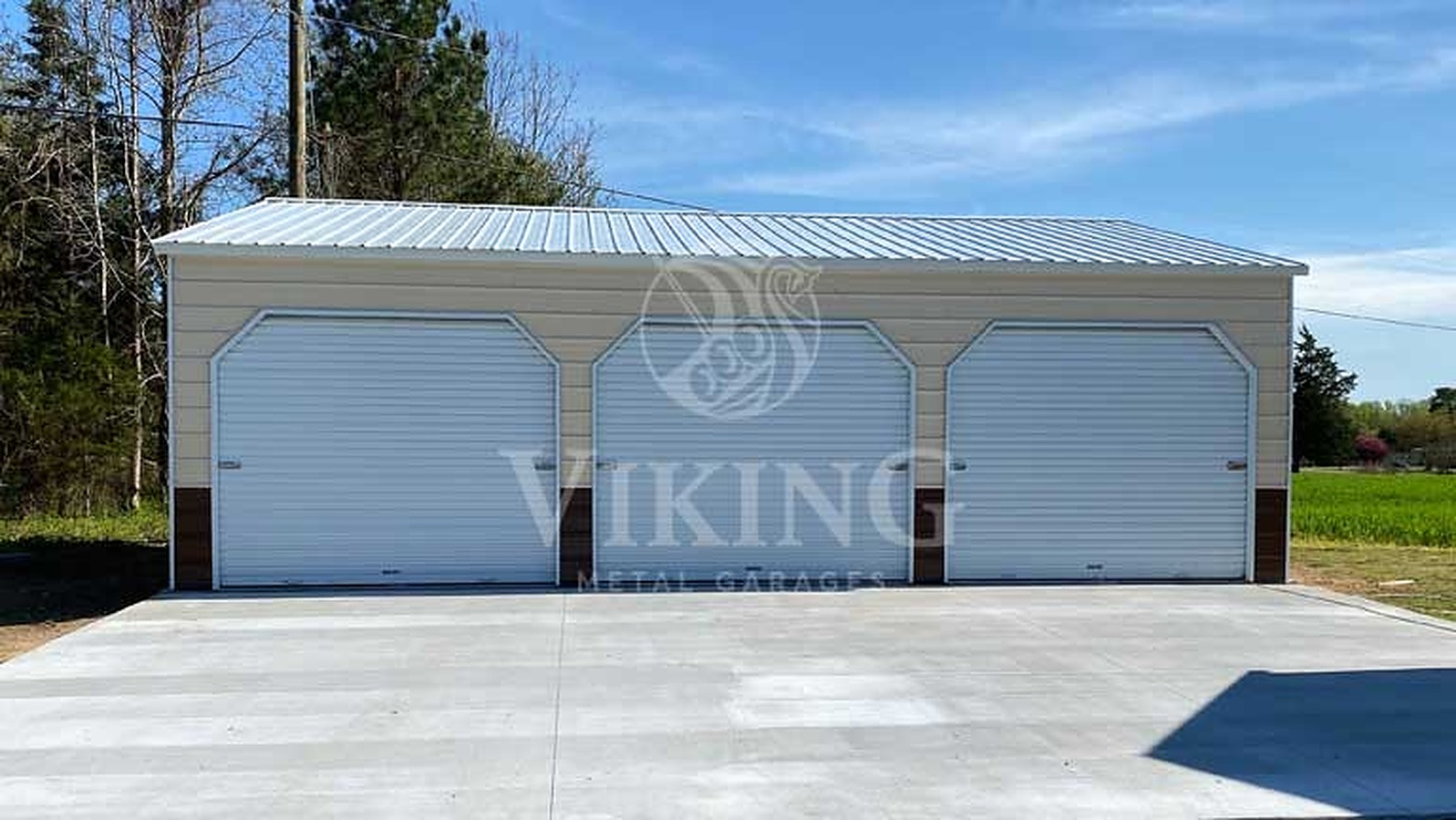 24' x 35' x 9' Vertical Style Metal Garage