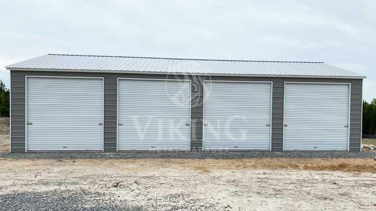 26'x40'x09 Prefab Side Entry Metal Garage