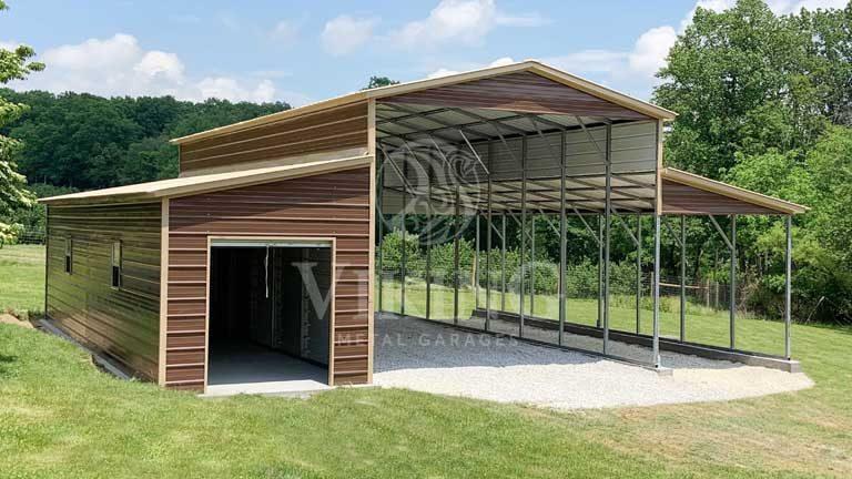 38x40x14 Steel Pole Barn