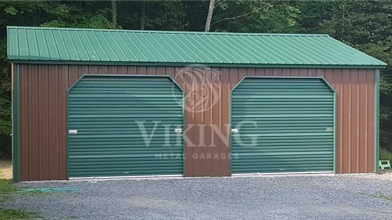 24'x30'x9′ Prefab Metal Garage