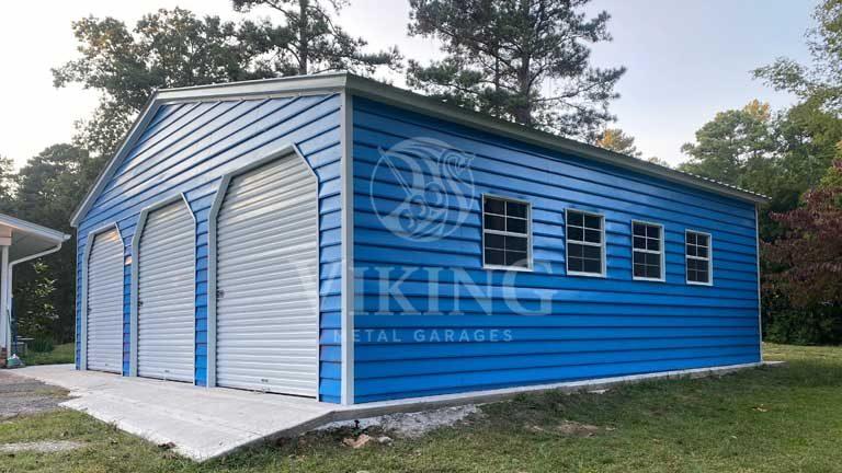 30'x30'x9′ Prefab Metal Garage
