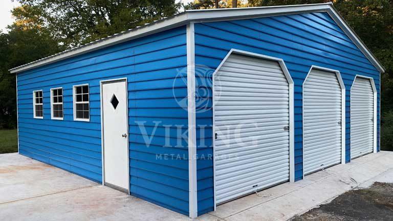 30'x30'x9' Prefab Metal Garage