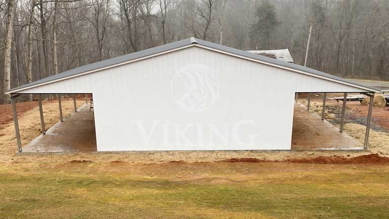 36x40x12 Metal Garage With Lean-to