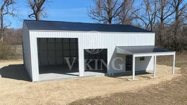 40'x40'x14' Commercial Garage with Lean-to