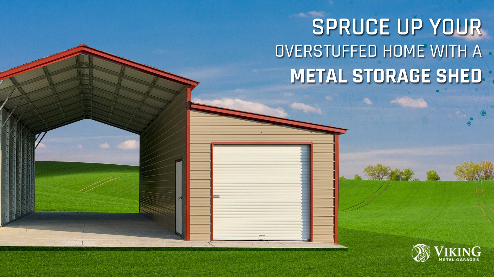 Spruce Up Your Overstuffed Home with a Metal Storage Shed